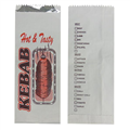 FOIL LINED BAG KEBAB 270MM X 100MM X 40MM PRINTED 500PK