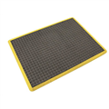 AIR GRID ANTIFATIGUE MAT 900 X 1500MM BLACKYELLOW BORDER