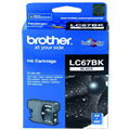 BROTHER LC67BK INKJET CARTRIDGE BLACK LC67