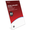 DEFLECTO 47401 SIGN AND DOCUMENT HOLDER A4 PORTRAIT SLANTED CLEAR