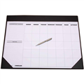 DESK MAT CUMBERLAND OM1002 UNDATED PERPETUAL DESK PLANNER BLACK 455MM X 580MM