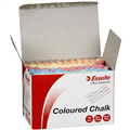 CHALK ASSORTED COLOUR DUSTLESS BOX 100