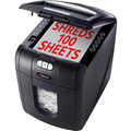 REXEL AUTO100 SHREDDER STACK AND SHRED CONFETTI CUT 100 SHEET